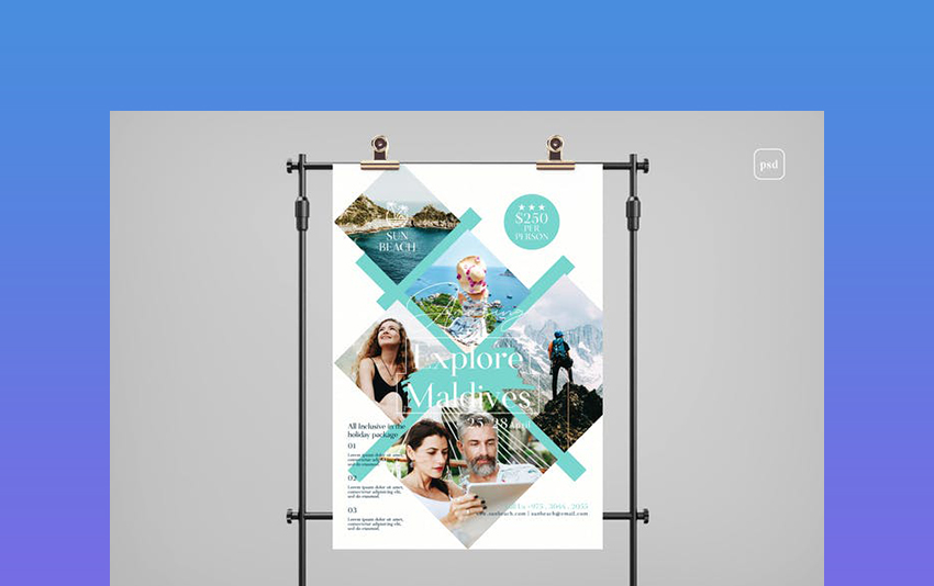 Travel Photoshop Flyer Templates