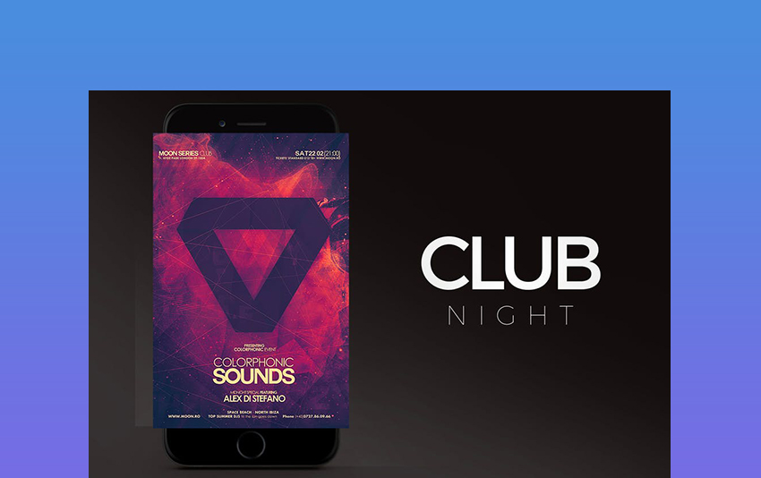 Dark Background Club Flyer Template