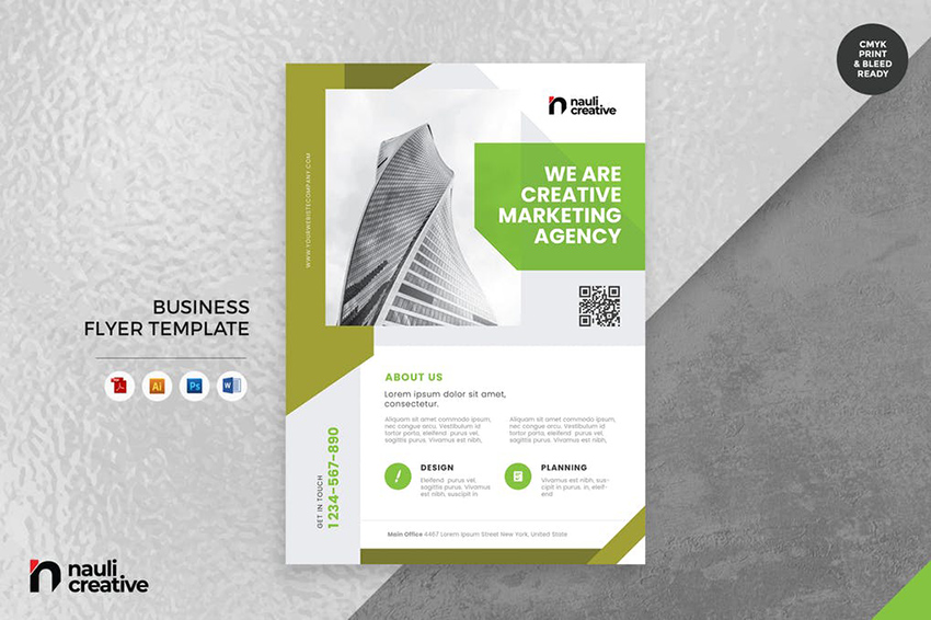 Corporate Business Flyer with a clear call to action on Envato Elements