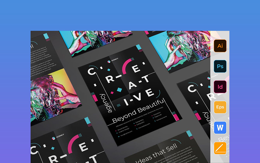 Creative Agency Flyer - Flyer Templates Word