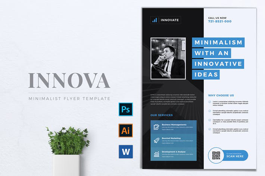 Innovations Multipurpose Corporate Flyer a premium pre-built template on Envato Elements