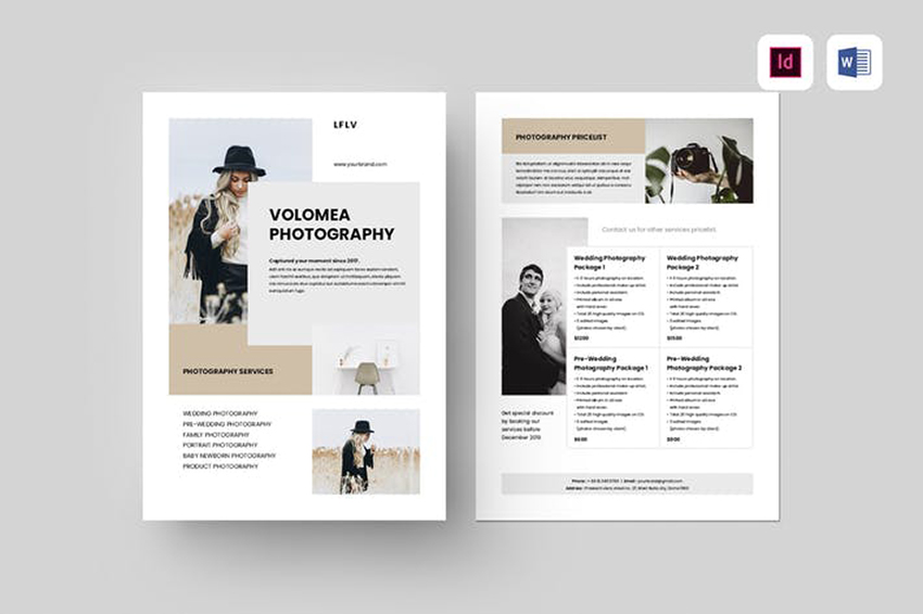 Photography Flyer a premium template on Envato Elements