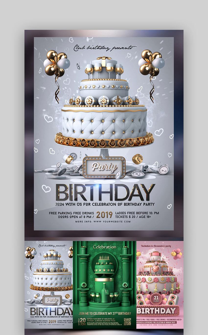 20 Top Free Birthday Party Flyer Templates For Happy 2020 Celebrations