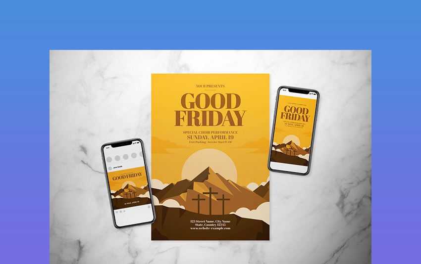 Good Friday Flyer Set