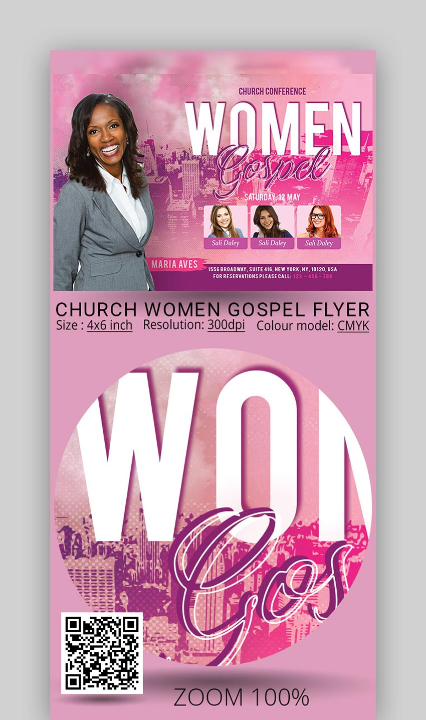 Church Women Gospel Flyer