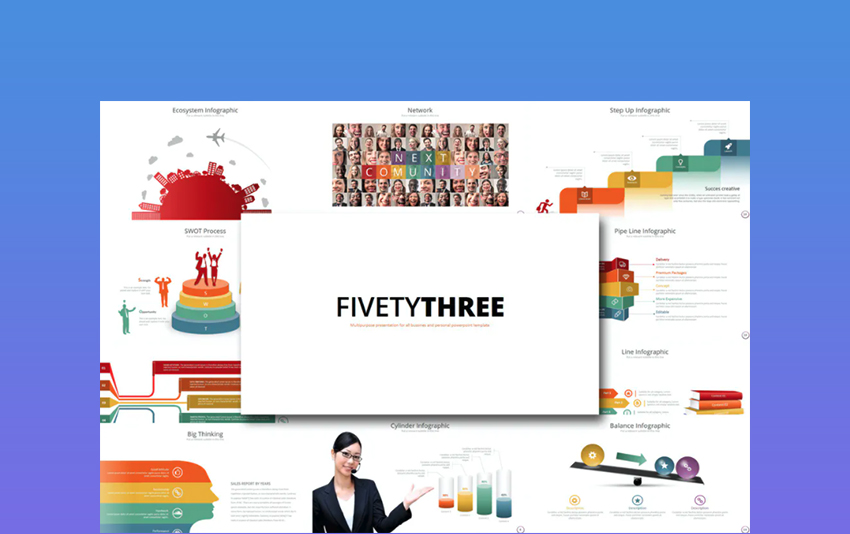 Fifty 3 - PowerPoint Template