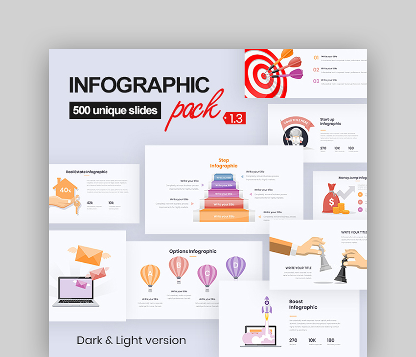 Infographic Pack - Download Template PowerPoint 3D