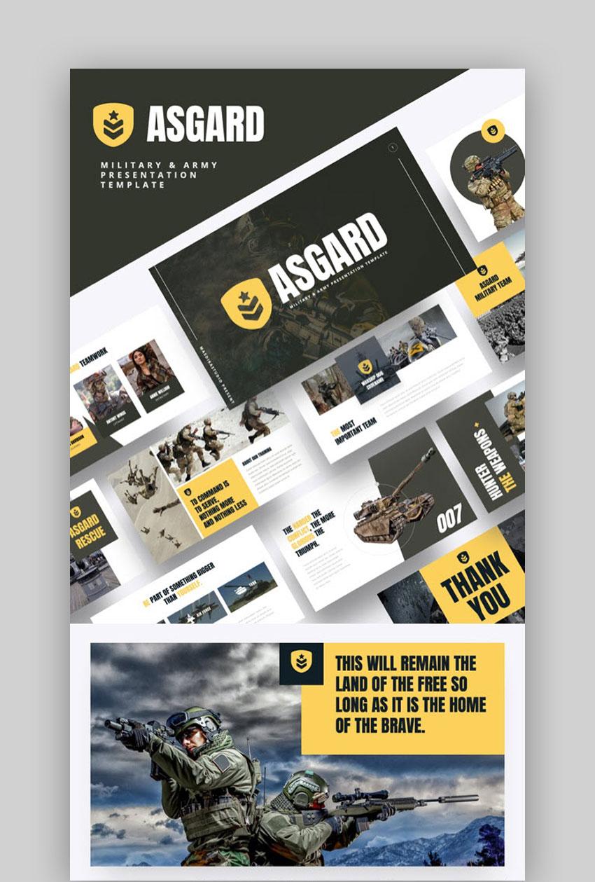 ASGARD - War Themed PowerPoint Template