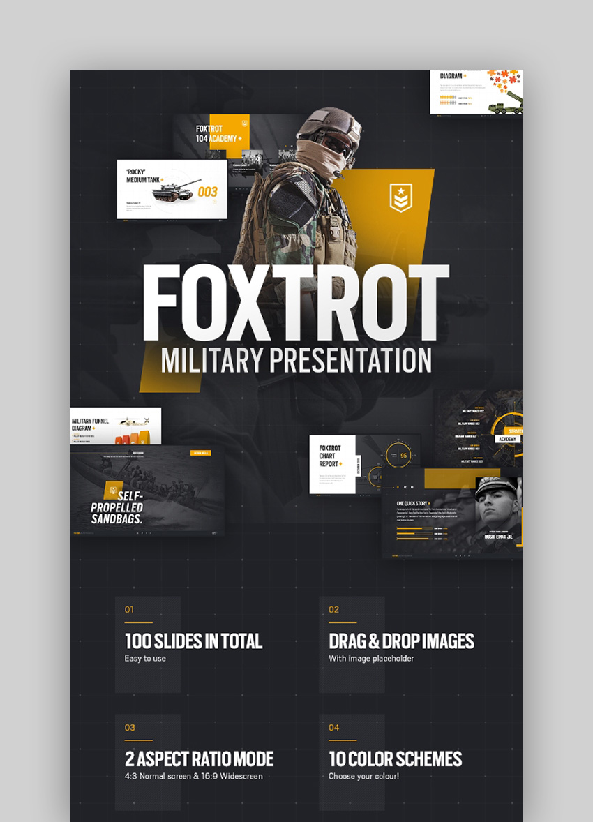 Foxtrot - Army Background for PowerPoint