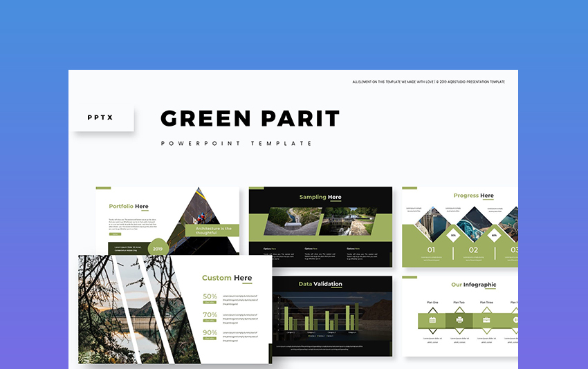 Green Parit - Military Slideshow Template