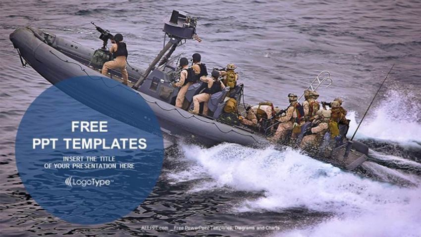 Military Boats - Free Soldier PowerPoint Template