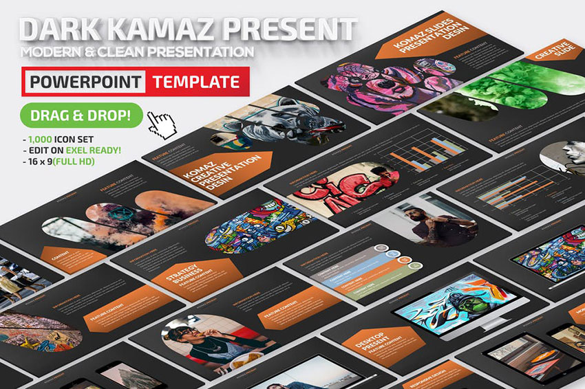 Dark Komaz Powerpoint Presentation