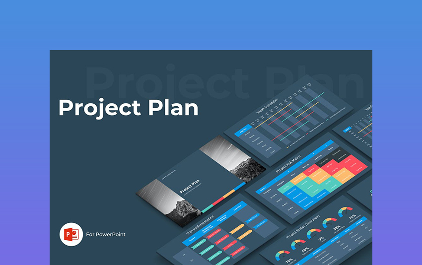 Project Plan - Dark Presentation Background Template