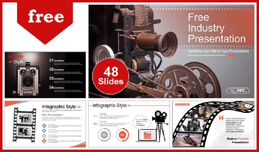 Movie Projector - Retro PowerPoint Template Free