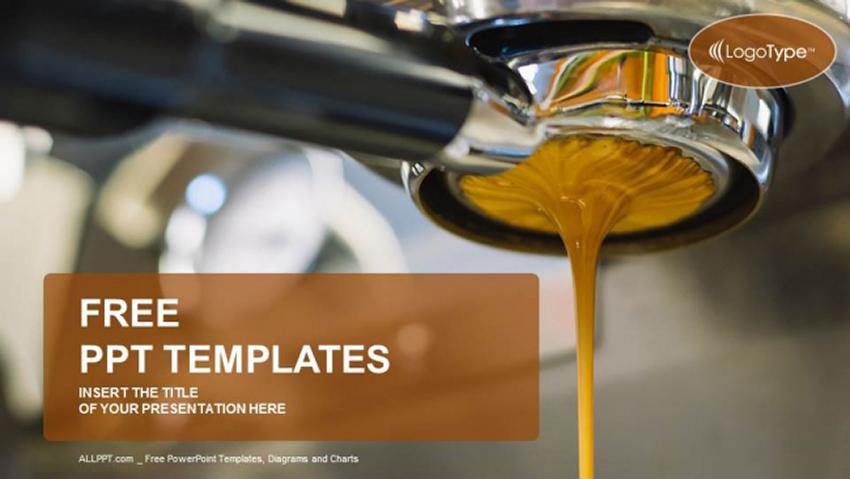 Coffee Machine - Free Prepare and Serve Espresso Coffee PowerPoint