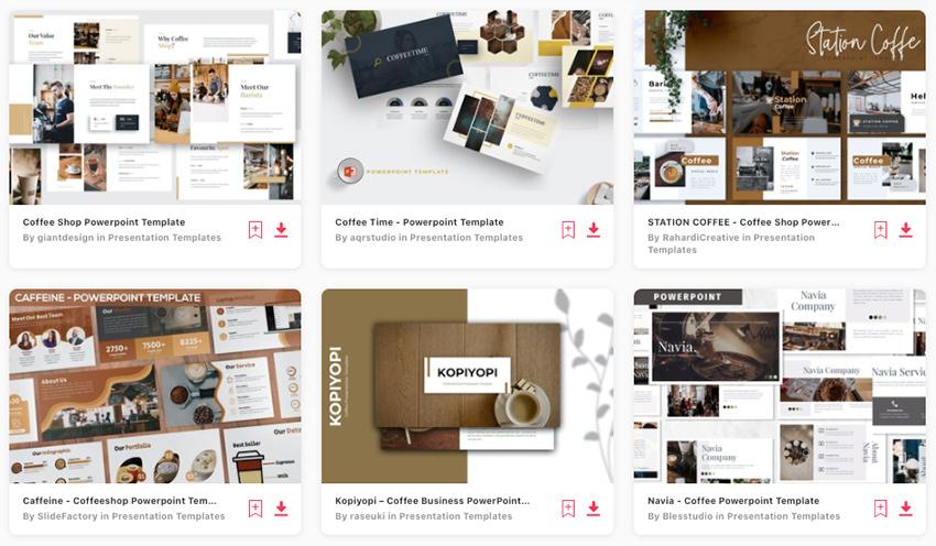 Find loads of premium coffee presentation slide templates on Envato Elements