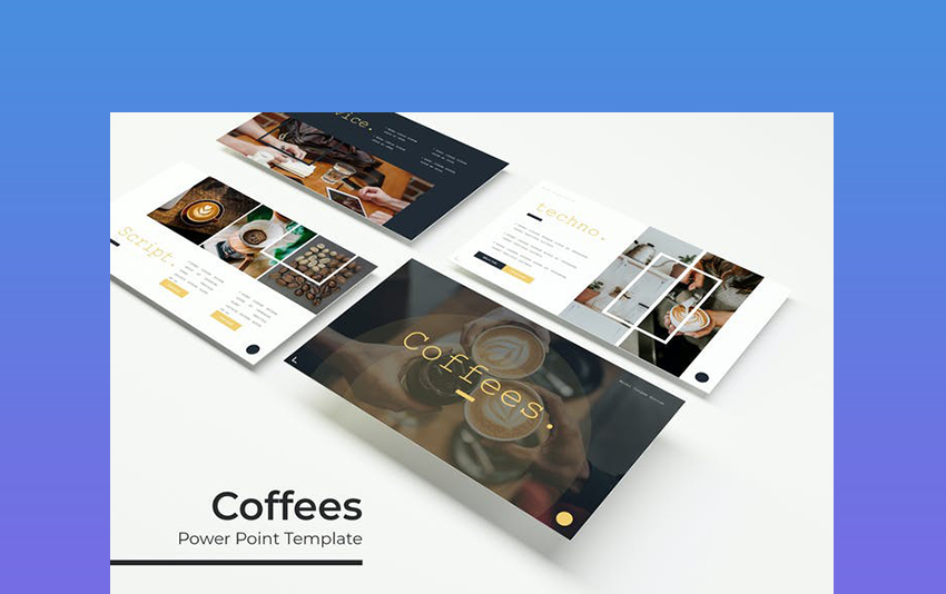 Coffees - PowerPoint Coffee Theme