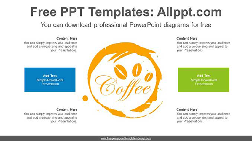 Diagram - Coffee PPT Template Free