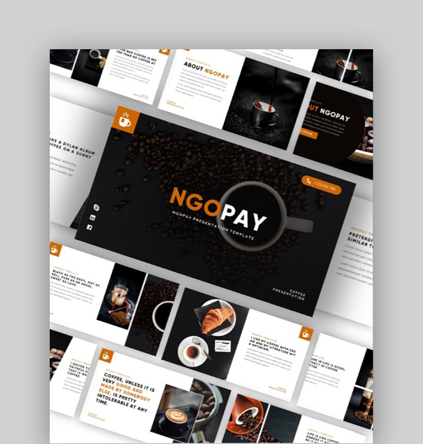 NGOPAY - Coffee Cafe PowerPoint Template