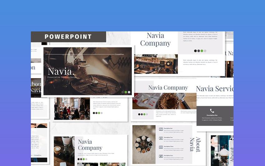 Navia - Coffee PowerPoint Template