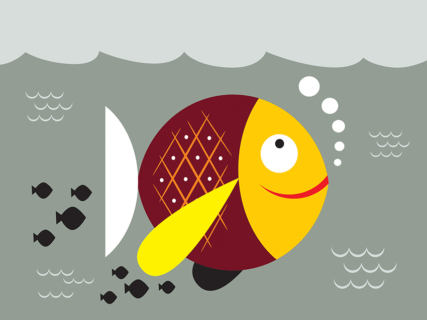Fish - Animated Cartoon PowerPoint Templates Free Download