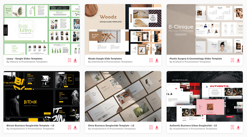 Find loads of premium aesthetic Google Slides on Envato Elements