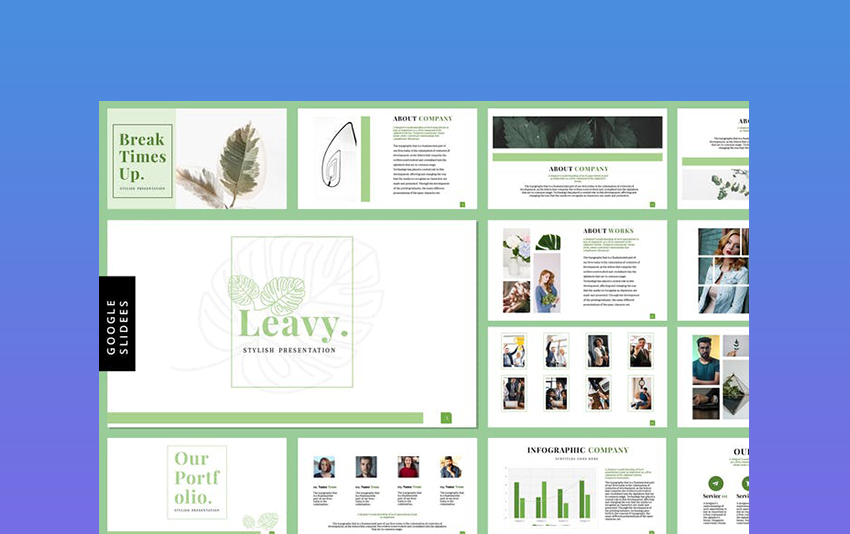 Leavy - Classy Presentation Template