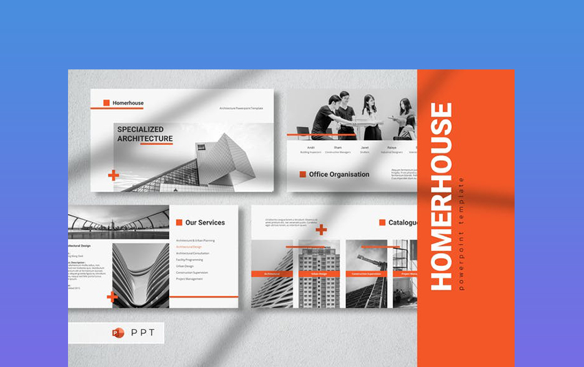 HOMERHOUSE - Architecture Background PowerPoint