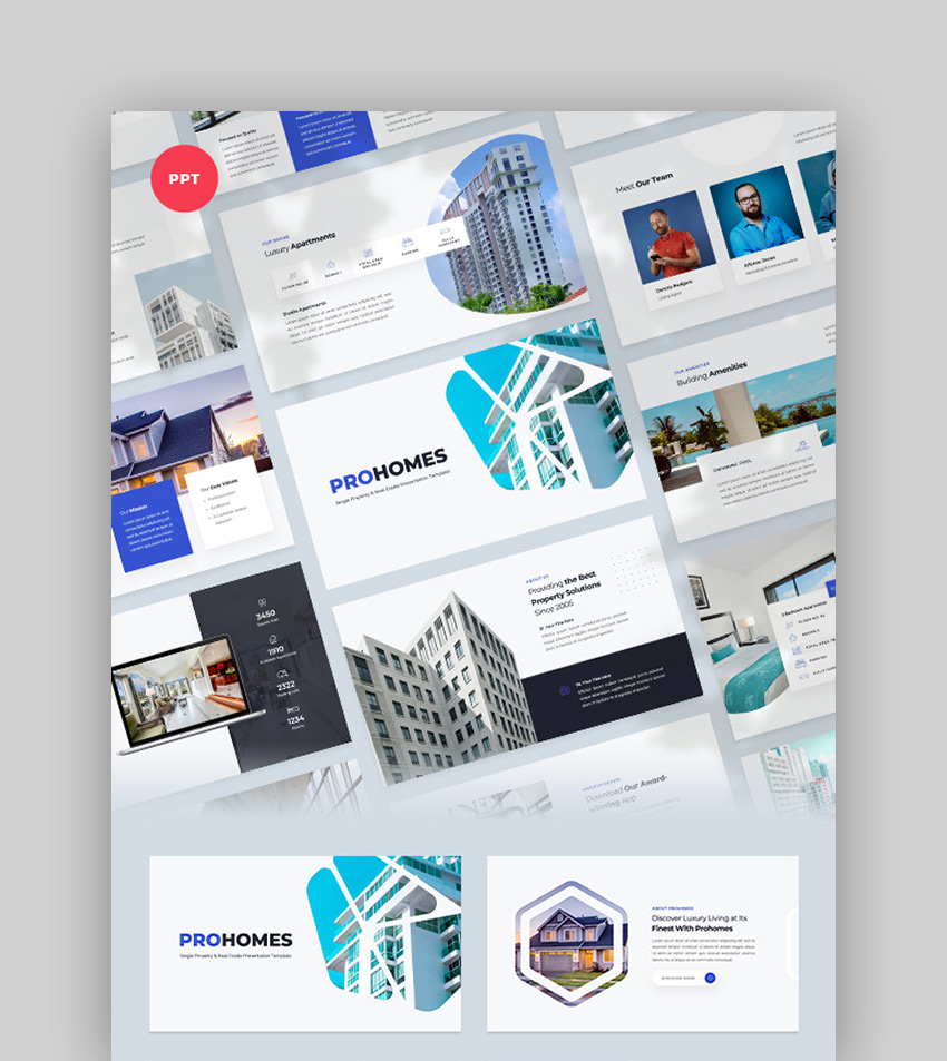 Prohomes - Property  Real Estate PowerPoint Template