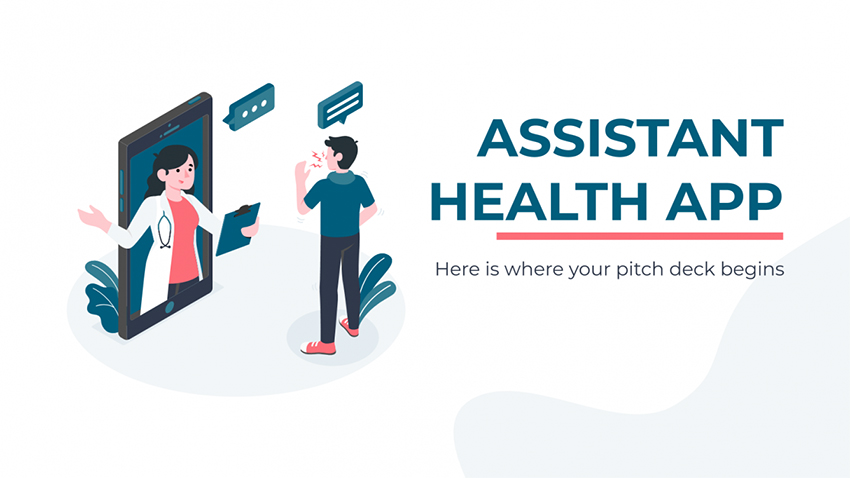 Assistant Health App - Free Media Themed PowerPoint Templates