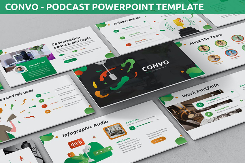 Convo - Podcast PPT Template