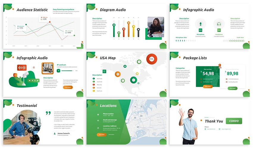 Convo - Podcast Powerpoint Template