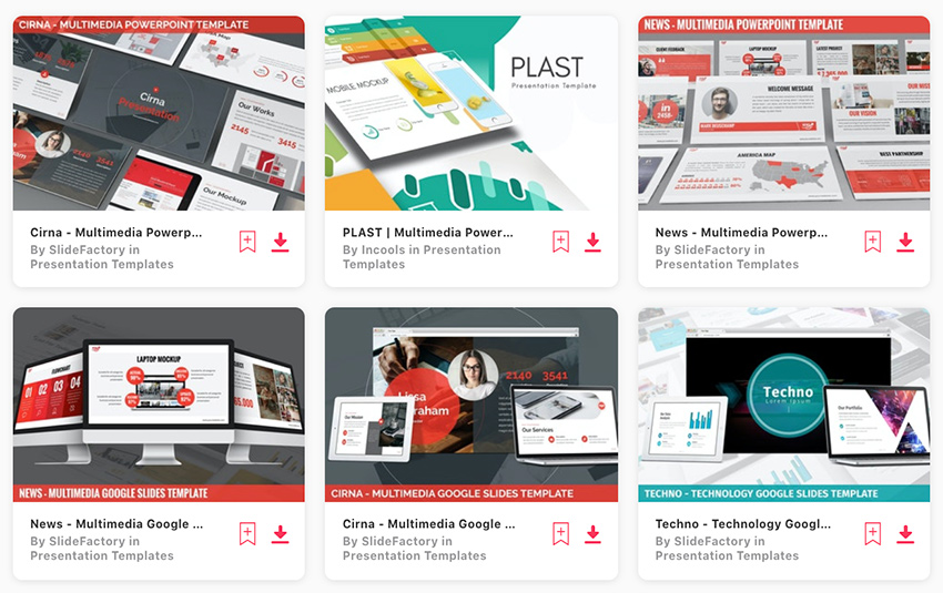 Find loads of premium multimedia PPT templates on Envato Elements