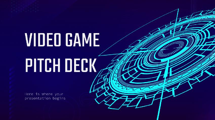 Video Games Pitch Deck Free Multimedia PowerPoint Presentation Slides