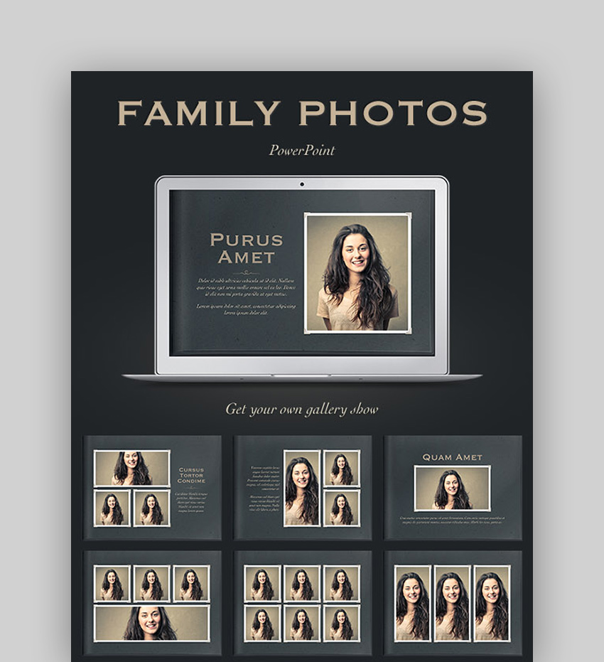The Family Photos PowerPoint Template