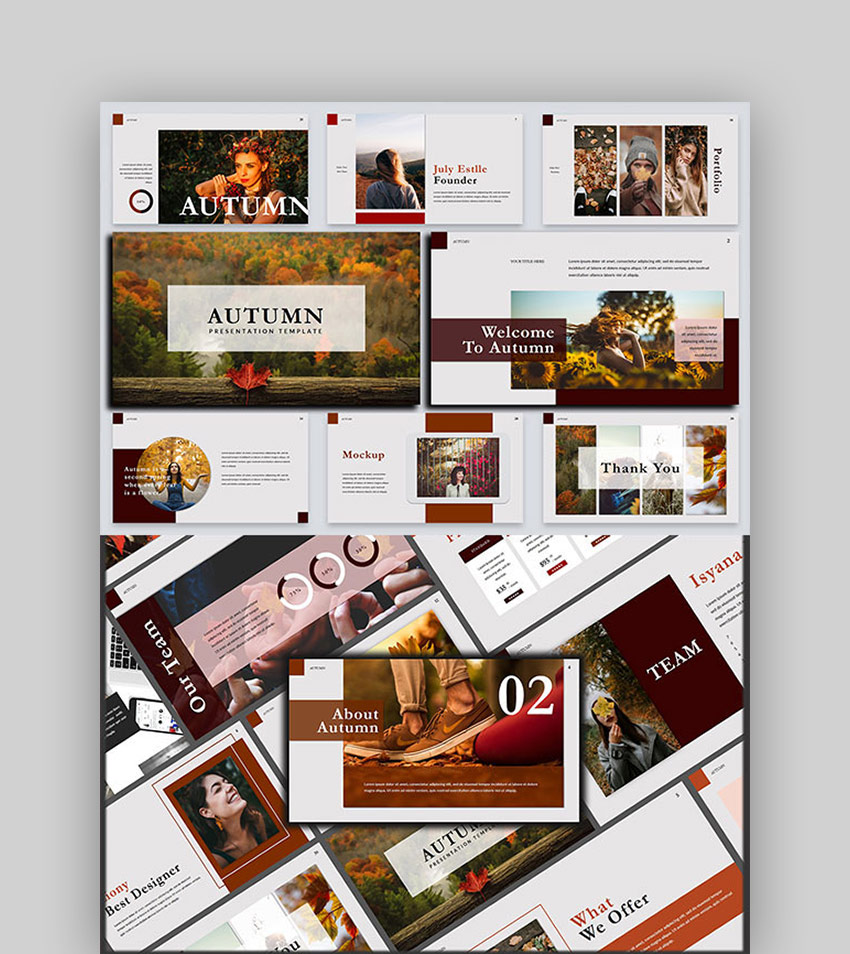 Autumn Stylish - Lookbook PowerPoint Template
