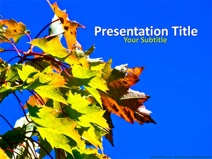 Blue Sky - Free Fall PowerPoint Presentation Template