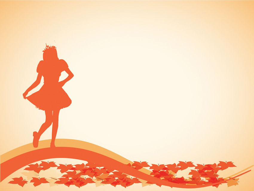 Dance - Free PowerPoint Backgrounds Autumn