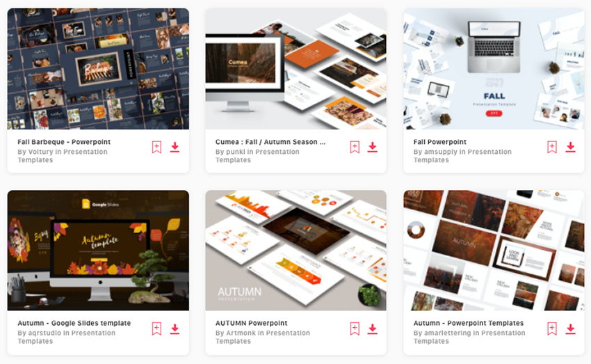 Premium Fall PPT Templates on Envato Elements