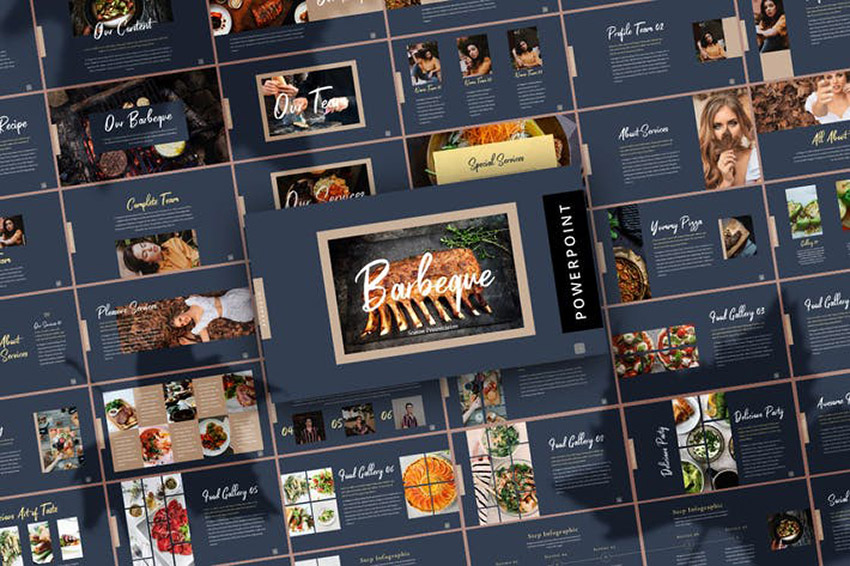 Fall Barbeque PPT Template a premium template on Envato Elements