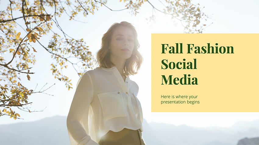 Fall Fashion - Autumn PowerPoint Backgrounds Free