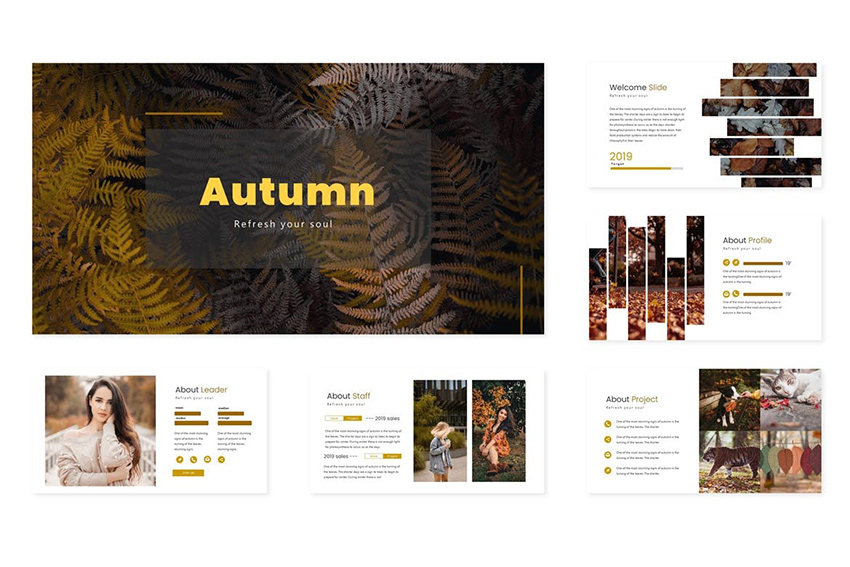 Fall PowerPoint Background Template a minimalistic premium template on Envato Elements
