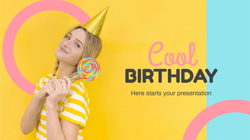 Cool - Free Birthday PPT Templates