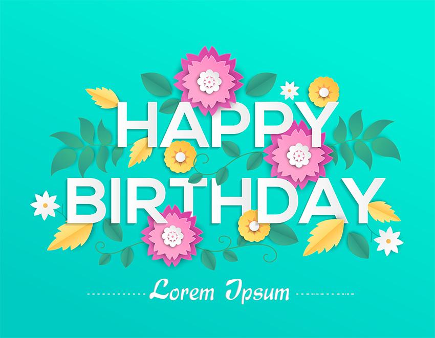 Happy birthday - Vector Colorful Illustration on Envato Elements