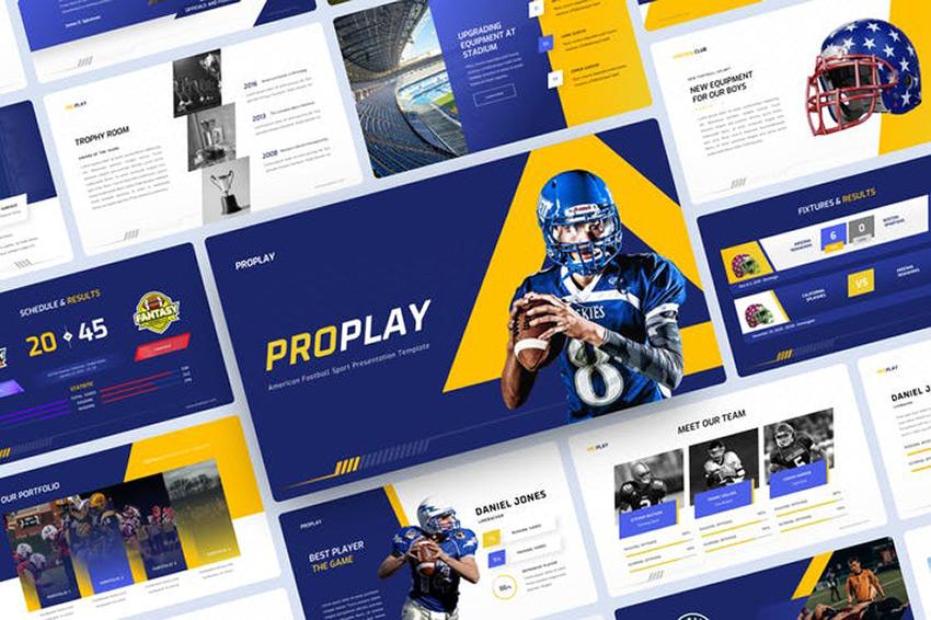American Football Sport PowerPoint Template