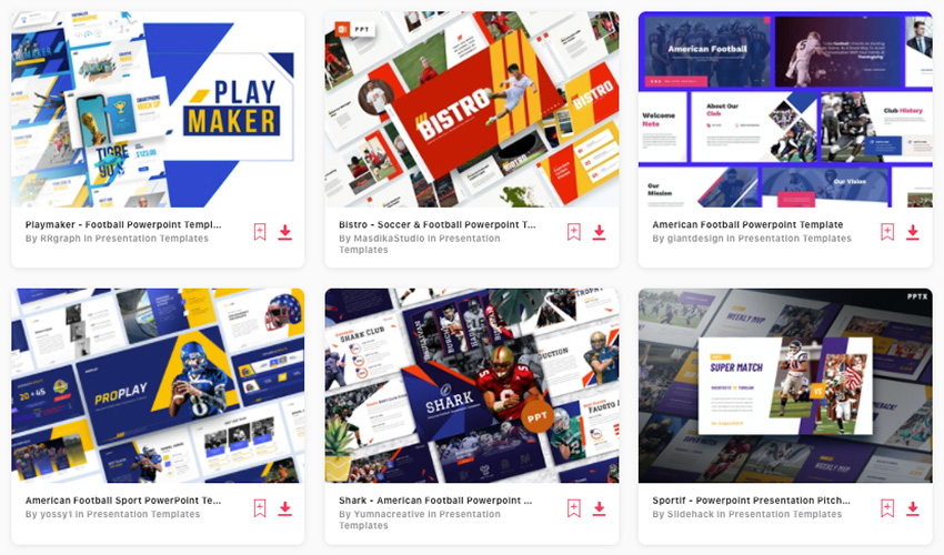 Premium Football and Soccer PPT Templates from Envato Elements