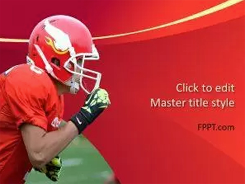 Red Free Football PowerPoint Slides