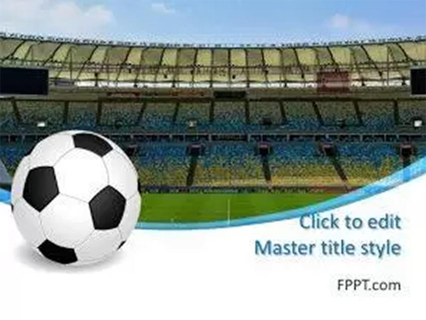 Soccer Stadium Free Soccer PowerPoint Template