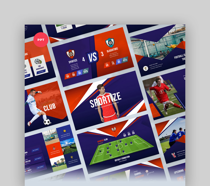Sportize Soccer and Football PowerPoint Slides