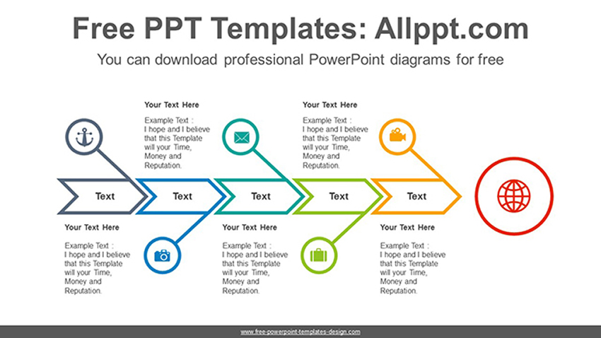 Arrow - Free Fishbone Diagram PowerPoint SmartArt